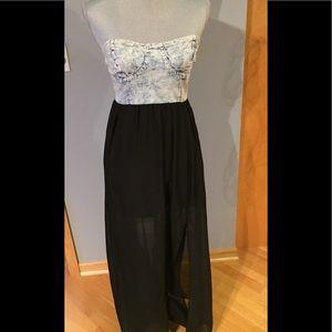 Mimi Chica Strapless Maxi Dress